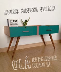 REPURPOSE 2 DRAWERS TO MAKE A VINTAGE SIDE TABLE/// tutorial may need translation