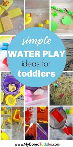 Water play ideas for babies and toddlers - fun and easy water table play ideas for babies and toddlers - 1 year old  2 year old 3 year old #myboredtoddler #waterplay #waterfun #toddlerwaterplay #toddleractivity #toddleractivity #toddlerlife #babyplay #babyactivity #summeractivity #babysummeractivity