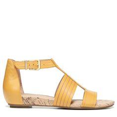 Naturalizer Women's Longing Narrow/Medium/Wide Sandals (Yellow Leather) - 10.0 M