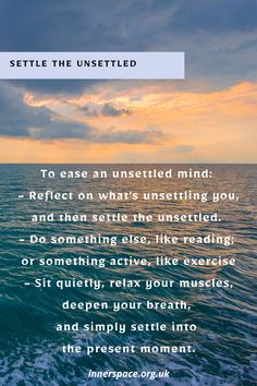 Settling your mind into relaxation Mind Gym, Breathe, Something To Do, Reflection, Muscle, Relax, Mindfulness, Exercise, In This Moment