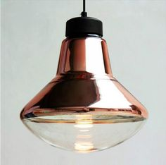 Free shipping Tom Dixon copper shade pendant lights Modern glass dining room pendant lamp Milan creative lighting fixtures-in Pendant Lights...