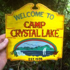 SMALL Friday 13th Jason Voorhees Camp Crystal Lake Replica Sign Hand made