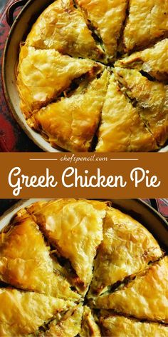 This sensational Greek chicken pie was discovered by Rick Stein in a mountain village in the Zagori region of Greece. Chef Recipes, Greek Recipes, Cooking Recipes, Recipies, Sandwich Toaster, Chefs, Greek Dishes, Rick Stein, Greek Chicken