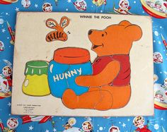 Winnie the Pooh Wood Puzzle 10 pieces by