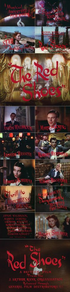 The Red Shoes (1948) trailer typography