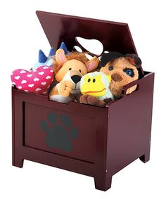 Take a look at this Walnut Brown Paw Pet Storage Box by Etna Products on #zulily today!