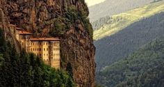 The Sumela Monastery, which has been in the forefront of mystery in recent years and inspired many films and sequins, is located in the Black Sea Region of Trabzon in Trabzon Turkey, Pamukkale, Turkey Travel, Black Sea, Trekking, Ankara, City Photo, Travel Destinations, Places To Visit