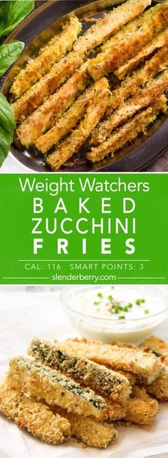 Weight Watchers Baked Zucchini Fries Recipe - 3 Smart Points 116 Calories