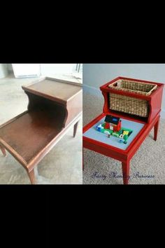 End Table Makeover Cool Idea For A Kids Room Furniture Projects