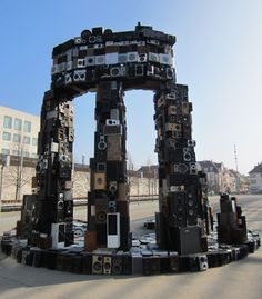 What do you get when you combine art and radios? A temple made of speakers; a modern Delphi Oracle.