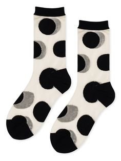 Yaya Sheer Crew – Hansel from Basel Silk Socks, Sheer Socks, Polka Dot Socks, Cashmere Socks, Socks For Sale, Japan Image, Winter Sale, Crew Socks, Fancy Dress
