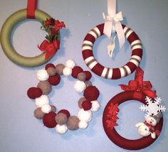 Christmas Wreaths...for next year. lol
