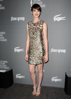 Anne Hathaway in Gucci