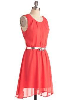 Coral Concert Dress | Mod Retro Vintage Dresses | ModCloth.com