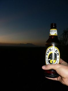 Tusker over Kilimanjaro. Entry by Rob Harte into the Lions Bluff photo competition #Kilimanjaro #Tsavo #Kenya #Tusker #beer www.lionsblufflodge.com/pages/win.html