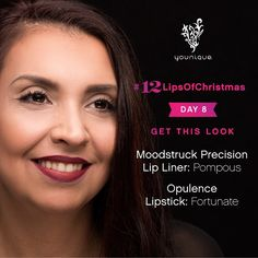 Day 8 of #12LipsOfChristmas  Natalia from Younique Customer Service looks beautiful with this deep red lip (link to full makeup in bio)