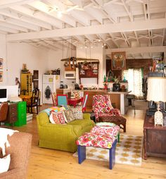 Grunge Style Design, Pictures, Remodel, Decor and Ideas// way too much going on, but good inspiration.