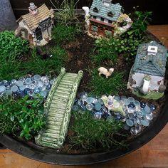 Fire Pit Fairy Garden