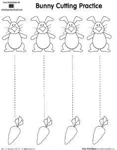 Cutting practice sheet Make your world more colorful with free printable coloring pages from italks. Our free coloring pages for adults and kids. Cutting Practice Sheets, Preschool Cutting Practice, Cutting Activities, Easter Activities, Preschool Learning, Preschool Centers, Preschool Themes, Writing Practice, Easter Worksheets