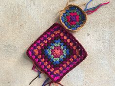 Seen here with the first five-round granny square