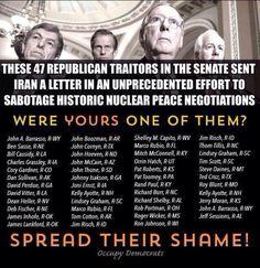 Keep spreading their shame #47Traitors #GOPWantsWar pic.twitter.com/DsJw3RZ6U7