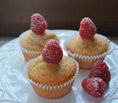 Muffin alle nocciole e lamponi