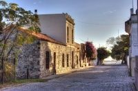 Old street in the historic district of Colonia del Sacramento, Uruguay. One of the top places for expatriate retirement