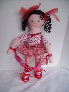 Cloth Doll PDF Pattern Lil Sweetheart Easy Soft Doll Pattern  - Great Beginner Sewing Pattern by Peekaboo Porch