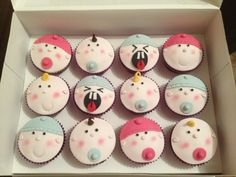 Baby faces cup cakes