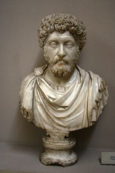 ancientart:  Ancient Roman bust of Emperor Marcus Aurelius, marble, 3rd century.        Marcus Aurelius was Roman Emperor from 161 to 180. He ruled with Lucius Verus as co-emperor from 161 until Verus' death in 169. He was the last of the Five Good Emperors, and is also considered one of the most important Stoic philosophers.        Courtesy & currently located at the Ephesus Museum, Turkey. Photo taken by José Luiz