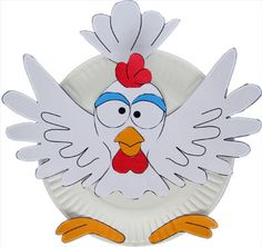 Make a paper plate chicken craft like we did at our farm-themed storytime.