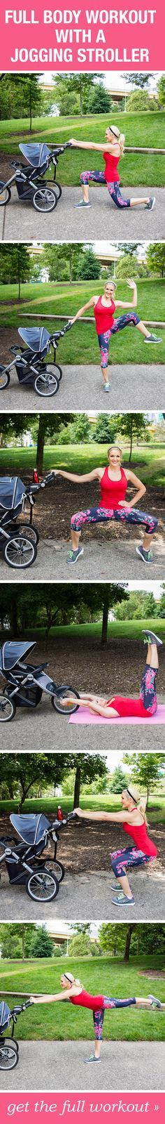 Grab your stroller and try this full body fitness workout!
