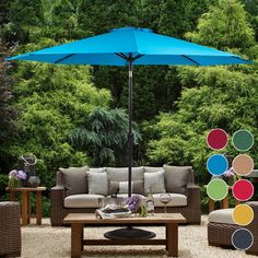 ★ Convenient crank opens/closes system and auto tilt, even easy to use ★ diameter rust-free bronze aluminum pole and 8 aluminum ribs provide stronger support ★ polyester canopy fabric features fade resistant, water repellent, UV protection. Provide a Aluminum Patio, Outdoor Umbrella, Tilt, Canopy, Rust Free, Create, Editor, Outdoor Decor