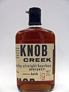 knob creek bourbon bottle knobs and in