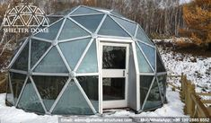 6m Winter igloo dome for glamping - Glass glamping dome - Glass dome garden - Glass dome home for sale - Glass geodesic dome - Garden igloo dome - Shelter Dome (2)