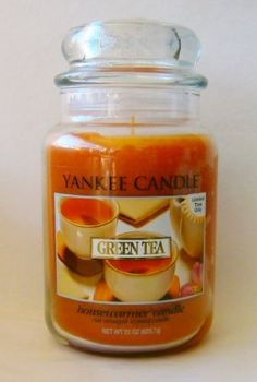 Amazon.com: Yankee Candle 22 oz Limited Edition Housewarmer Large Jar Candle GREEN TEA - Discontinued Scent: Home & Kitchen