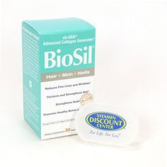 Bundle  2 Items 1 Bottle Of Biosil Hair Skin and Nails By Natural Factors  30 Capsules and 1 Pill Box * Check this awesome product by going to the link at the image.  This link participates in Amazon Service LLC Associates Program, a program designed to let participant earn advertising fees by advertising and linking to Amazon.com.