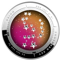 2014 $5 Southern Skies - Orion Curved Coloured 1oz Silver Proof
