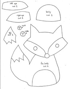 ... Fox pattern on Pinterest | Felt fox, Felt patterns and Animal patterns