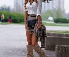 skirt + boots.   Loveee it
