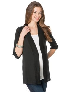 A Pea in the Pod Collection: Splendid Long Sleeve Open Front Maternity Cardigan