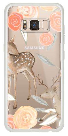Casetify Galaxy Classic Snap Case - Romantic Deers by Bianca Pozzi