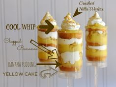 Layered Banana Cream Pie Cake Push Pops