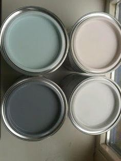▷ 1001 + Ideen zum Thema Farbkombinationen mit Grau in der Wohnung graue wandfarbe mit dekorativen farben verzieren, rosarot, dunkel und hellgrau, champagner farbe, wandfarben Gray Painted Walls, Grey Walls, Paint Walls, Paint Colors For Home, House Colors, Paint Colours, Colours For Living Room, Bedroom Colours, Bathroom Colors