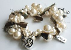 Love this bracelet. There are ones with red, white, and blue pearls, too!