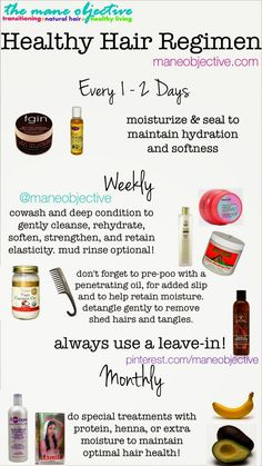 Healthy hair regimen