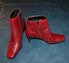 Boots Vintage Deep Rust Burgundy Color like new by JellyBeanJump, $45.00