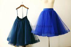Navy Blue Tulle Skirt/Horse Hair Tulle Skirt/Women Tulle Skirt/Short TUTU Skirt/Wedding Dress Underskirt/Petticoat by CocoTutuhouse on Etsy https://www.etsy.com/listing/214356346/navy-blue-tulle-skirthorse-hair-tulle