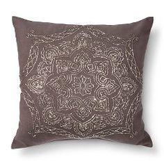 """Luna Beaded Toss Pillow - Silver (20""""x20"""")"""
