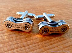 Wedding Groom Gift Cuff Links  DURA ACE Bike Chain Special Edition Mens Bicycle Chain Upcycled - Cyclist Racer - Mountain Biker - Motorcycle
